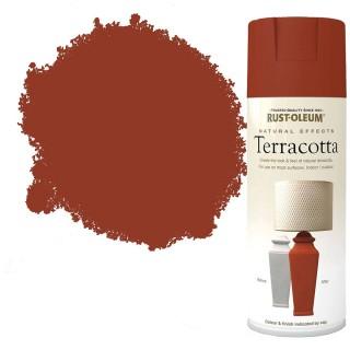 Χρώμα σε Σπρέι για την δημιουργία εφέ Ανάγλυφων Φυσικών Υλικών σε Terracotta υφή Rust-Oleum Natural Effects 400ml