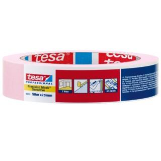 Χαρτοταινία μασκαρίσματος ροζ για ευαίσθητες επιφάνειες πλάτους 25 χιλιοστών 50 μέτρα tesa ®