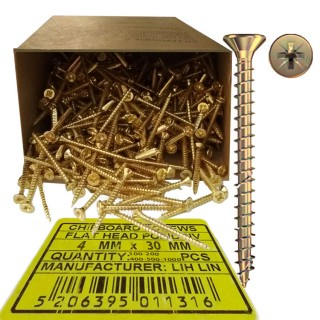 Νοβοπανόβιδες 4mm πάχος και 30mm μήκος Χρυσές φρεζάτες LIH-LIN σε συσκευσίες των 100 ή 200 ή 400 ή 500 ή 1000τεμ.