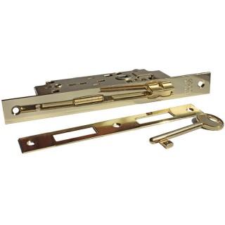 Κλειδαριά AGB Χρυσή μεσόπορτας με κέντρο 75-45mm τετράγωνη 13R9
