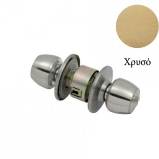 Κλειδαριά πόμολου λουτρού (χωρίς κλειδί) Χρυσή