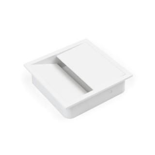 Τάπα καλωδίων τετράγωνη Emuca 5012512 Λευκό
