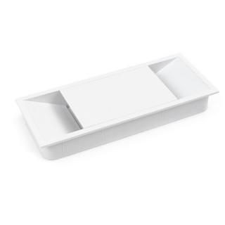 Τάπα καλωδίων Emuca 5012612 Λευκή