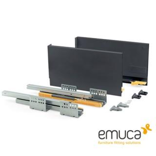 Μεταλλικό συρτάρι Emuca 18.5cm Concept 3101735 No50 Ανθρακί