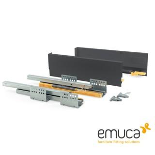 Μεταλλικό συρτάρι Emuca 10.5cm Concept 3100535 No50 Ανθρακί