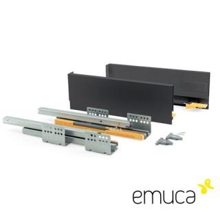 Μεταλλικό συρτάρι Emuca 13.8cm Concept 3101135 No50 Ανθρακί
