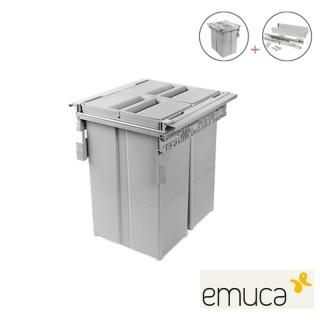 Πλαστικός κάδος απορριμάτων Κουζίνας Emuca  8924021 2Χ29L