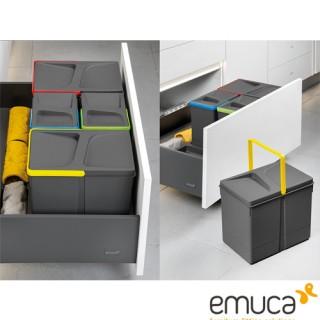 Σετ Δοχείων απορριμάτων Νεροχύτη Emuca 8197123-8197923 για κουτί 80cm