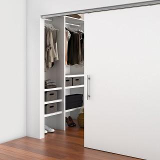 Μηχανισμός Ξύλινης Συρόμενης πόρτας για πόρτα έως 1m πλάτος με φρένο Emuca