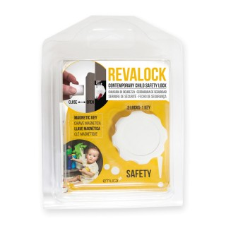 Κλειδαριά παιδικής ασφάλειας Revalock Emuca 8932920 για πόρτες και συρτάρια