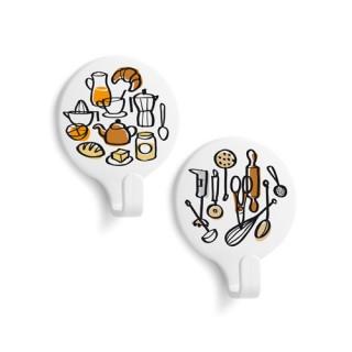 Αυτοκόλλητα κρεμαστράκια με σχέδιο Κουζίνα Inofix 2170 - 2τμχ