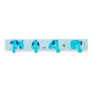 Κρεμάστρα 4 Θέσεων Inofix 3706 σε Γαλάζιο με σχέδιο Ελέφαντες