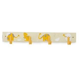 Κρεμάστρα 4 Θέσεων Inofix 3706 σε Κίτρινο με σχέδιο Δεινόσαυρους