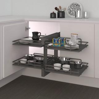 Μηχανισμός κουζίνας με φρένο για τυφλό ντουλάπι Inoxa Compact2 Elite 839E για πόρτα 45cm