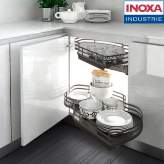 """Μηχανισμός κουζίνας με φρένο για τυφλό ντουλάπι """"φασόλι""""Inoxa Combis 845 για Πόρτα 45εκ Ανθρακί"""