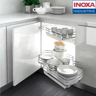 """Μηχανισμός κουζίνας με φρένο για τυφλό ντουλάπι """"φασόλι""""Inoxa Combis 845 για Πόρτα 45εκ"""
