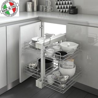 Μηχανισμός κουζίνας με φρένο για τυφλό ντουλάπι Inoxa Compact 838 για πόρτα 45cm