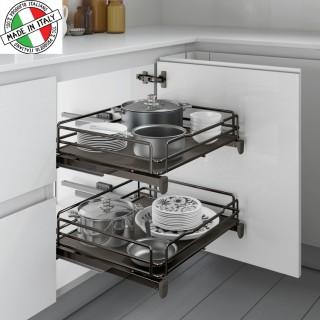 Συρμάτινο βαγονέτο Τροφοθήκης κουζίνας Inoxa Ardesia 5202 Ανθρακί Νο40