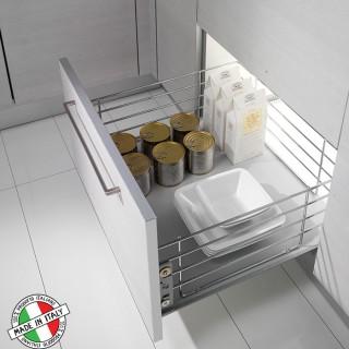 Συρμάτινο βαγονέτο κουζίνας Inoxa 202 με απλό οδηγό ροδάκι χωρίς Φρένο