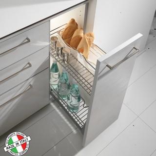Συρμάτινο βαγονέτο κουζίνας Ψωμιέρα Inoxa 105R με απλό οδηγό ροδάκι  χωρίς Φρένο