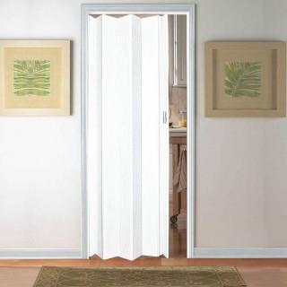 Μονόφυλλη πτυσσόμενη πόρτα Pioneer Zitaflex Τυποποιημένης Διάστασης σε Χρώμα Λευκό 84cm x 210cm