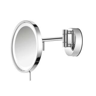 Επιτοίχιος μεγεθυντικός φωτειζόμενος καθρέπτης μπάνιου Sanco A3-LED-705