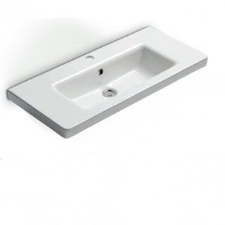 Νιπτήρας μπάνιου σε λευκό χρώμα Bianco Urban 35080