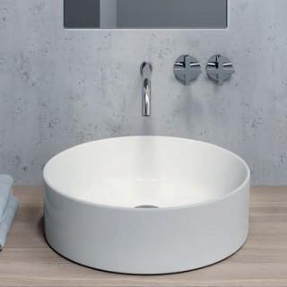 Νιπτήρας μπάνιου σε λευκό ματ χρώμα Gsi Kube-Slim-X 9427