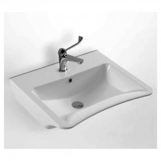 Νιπτήρας μπάνιου σε λευκό χρώμα Senior 3044