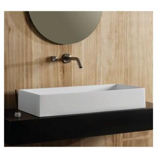 Νιπτήρας μπάνιου σε λευκό ματ χρώμα Scarabeo Teorema 5102-301