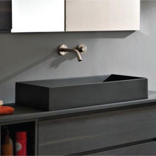Νιπτήρας μπάνιου σε μαύρο ματ χρώμα Scarabeo Teorema 5102-401