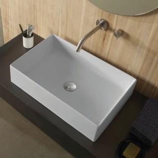 Νιπτήρας μπάνιου σε λευκό ματ χρώμα Scarabeo Teorema 5101-301