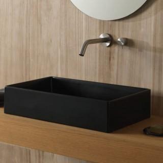 Νιπτήρας μπάνιου σε μαύρο ματ χρώμα Scarabeo Teorema 5101-401