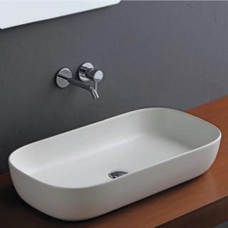 Νιπτήρας μπάνιου σε λευκό ματ χρώμα Scarabeo Glam 1803-301