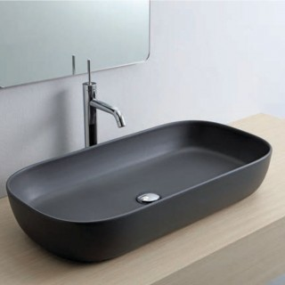 Νιπτήρας μπάνιου σε μαύρο ματ χρώμα Scarabeo Glam 1803-401