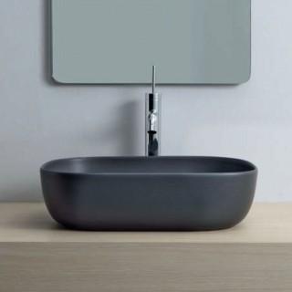 Νιπτήρας μπάνιου σε μαύρο ματ χρώμα Scarabeo Glam 1804-401