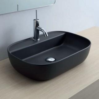 Νιπτήρας μπάνιου σε μαύρο ματ χρώμα Scarabeo Glam/R 1802-401