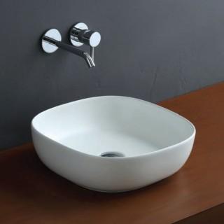 Νιπτήρας μπάνιου σε λευκό ματ χρώμα Scarabeo Glam 1806-301