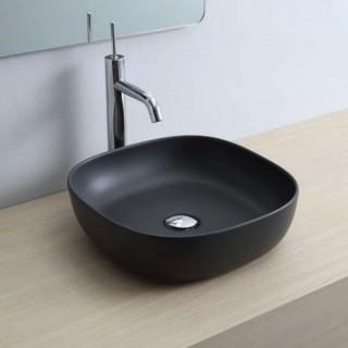 Νιπτήρας μπάνιου σε μαύρο ματ χρώμα Scarabeo Glam 1806-401