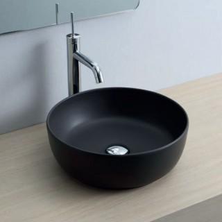Νιπτήρας μπάνιου σε μαύρο ματ χρώμα Scarabeo GLAM Ø39 εκ. 1807-401