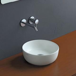 Νιπτήρας μπάνιου σε λευκό ματ χρώμα Scarabeo GLAM Ø33 εκ. 1808-301