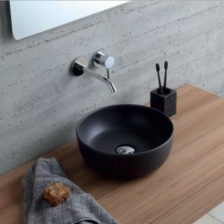 Νιπτήρας μπάνιου σε μαύρο ματ χρώμα Scarabeo GLAM Ø33 εκ. 1808-401