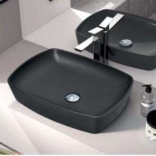 Νιπτήρας μπάνιου σε μαύρο ματ χρώμα Serel 1633-401