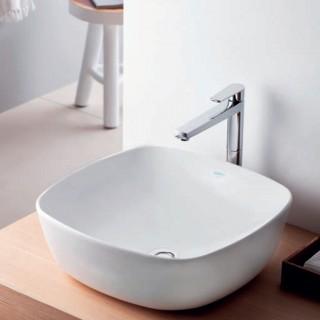 Νιπτήρας μπάνιου σε λευκό ματ χρώμα Serel 3049-301