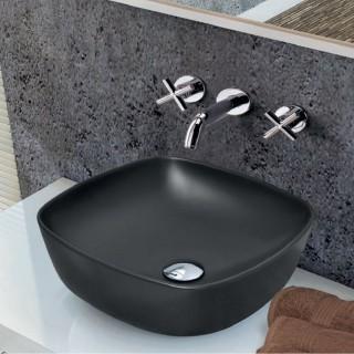 Νιπτήρας μπάνιου σε μαύρο ματ χρώμα Serel 3049-401