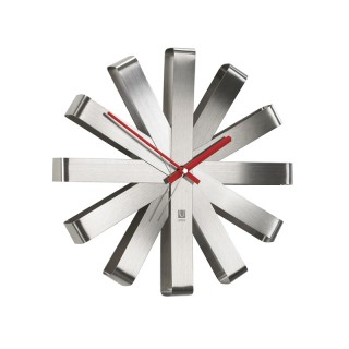 Ανοξείδωτο Ρολόι Τοίχου Umbra 118070-590- με αθόρυβο μηχανισμό