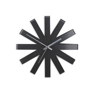 Ρολόι Τοίχου Umbra 118070-040 Χρώμα Μαύρο - με αθόρυβο μηχανισμό