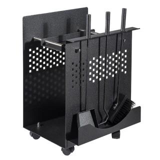 Μεταλλική ξυλιέρα τζακιού Viometal 540 Λουιζιάνα Μαύρο χρώμα