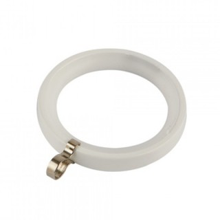 Κρίκος κουρτινόβεργας 0228 Zωγομεταλ Φ25 Λευκό χρώμα