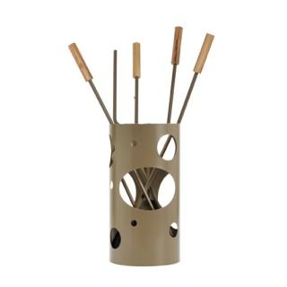 Εργαλεία με Κουβά Ζωγομετάλ K30-1240 σε Καφέ Ελιάς-Ξύλο Ελιάς